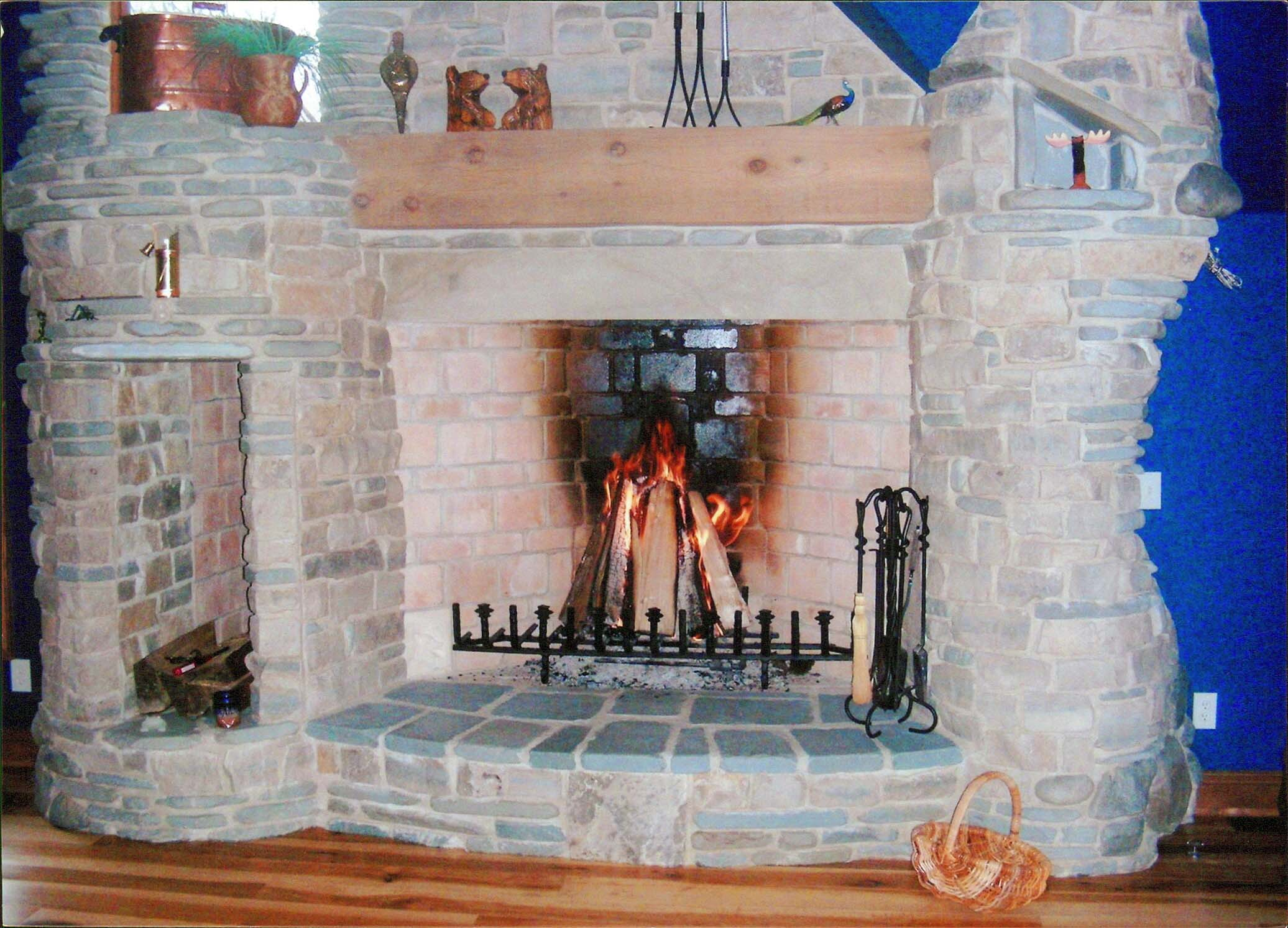 6 foot rumford fireplace natural stone yoder masonry inc for Rumford fireplace insert