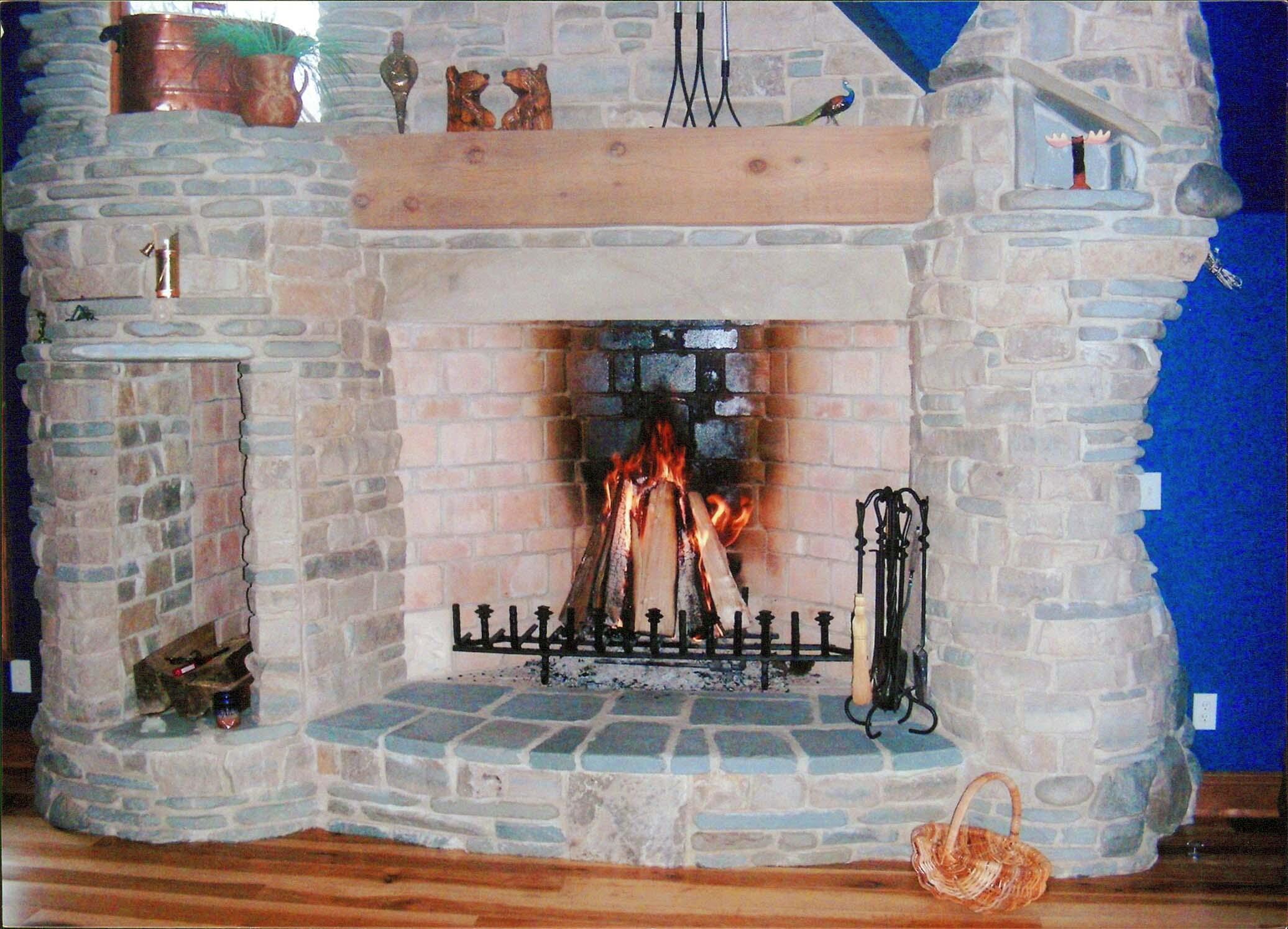 6 Foot Rumford Fireplace Natural Stone Yoder Masonry Inc