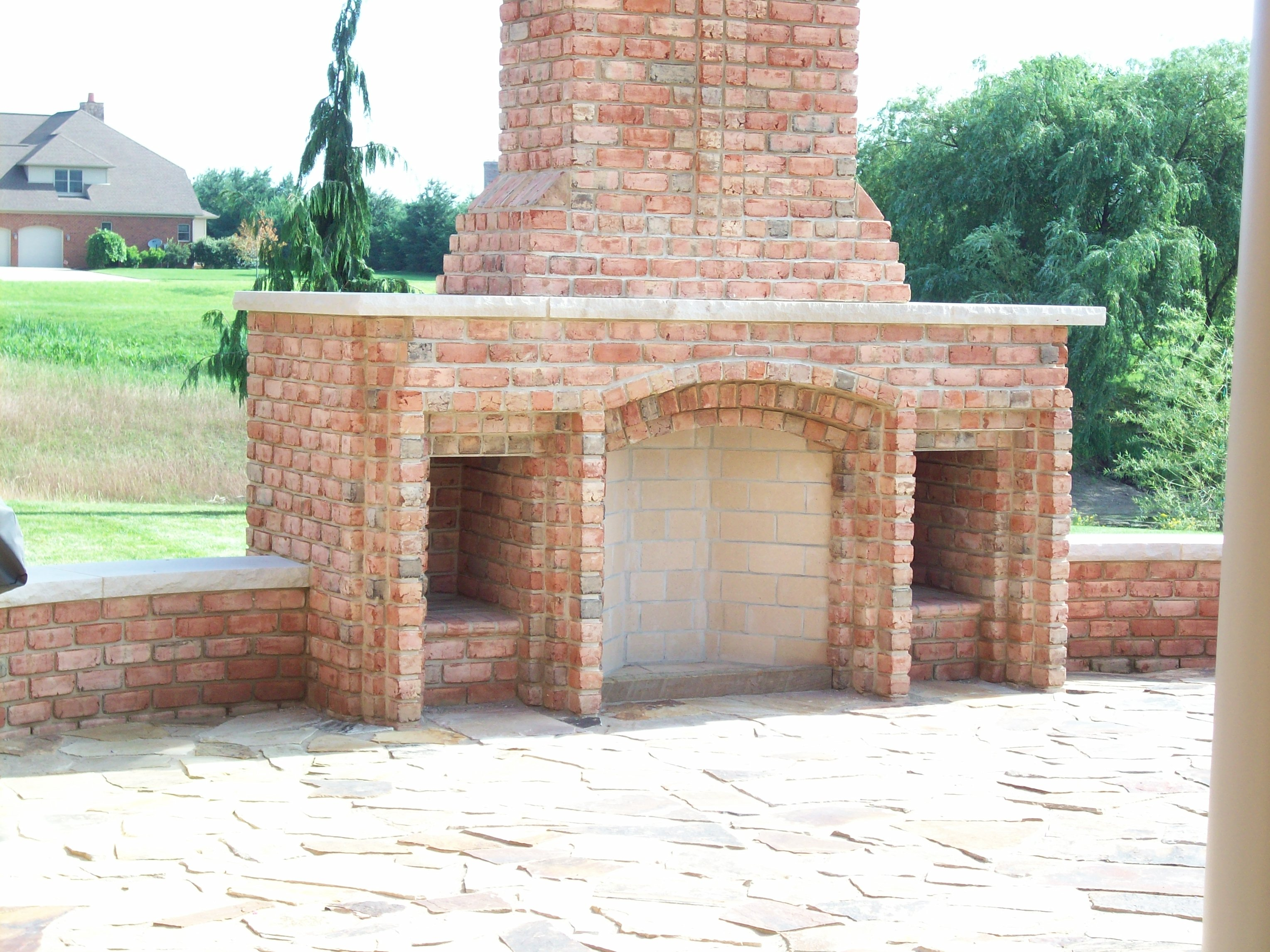 3 Foot Rumford Fireplace With Woodbox Detail