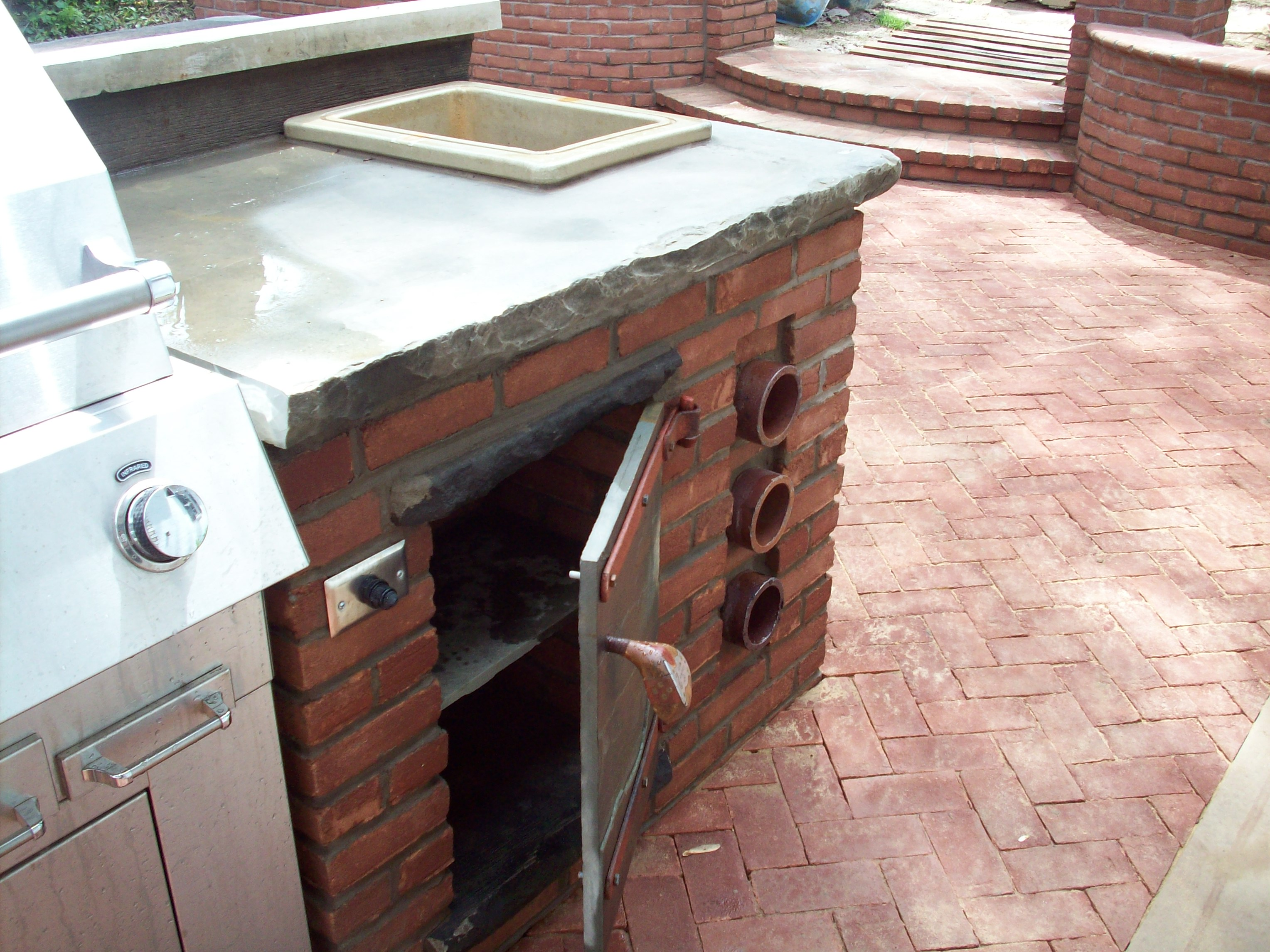 Detail Outdoor Grilling Area Yoder Masonry Inc
