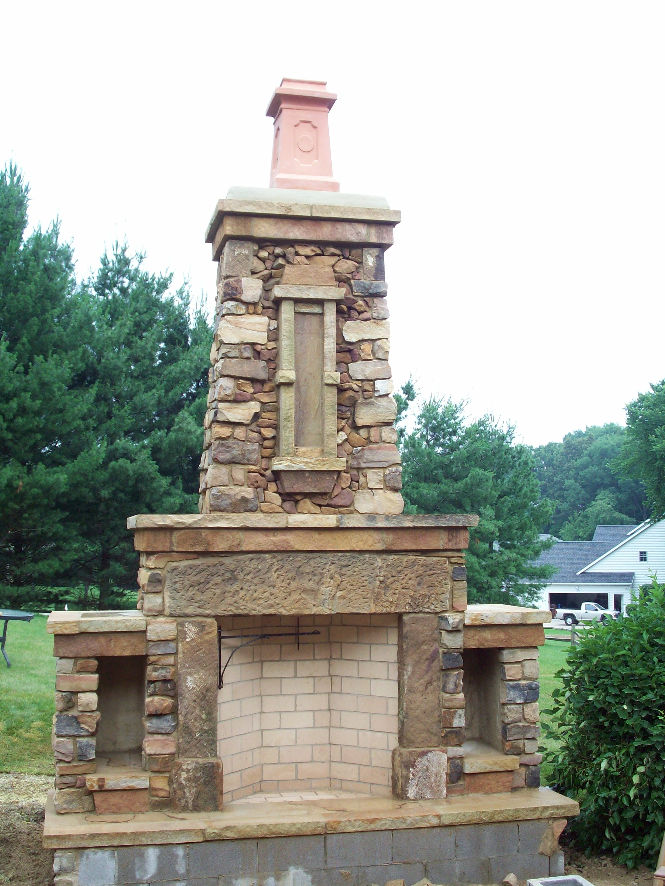 Outdoor Fireplace Yoder Masonry Inc