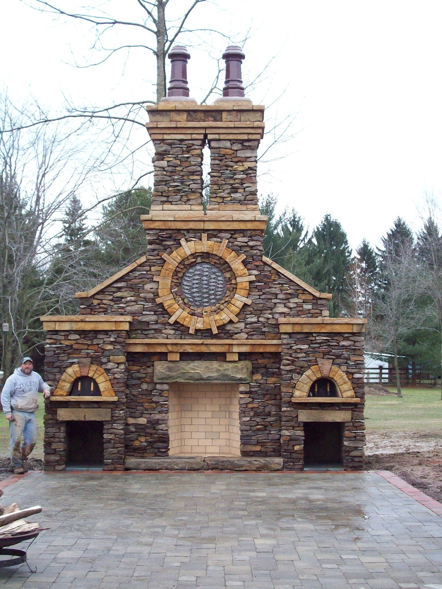 Https Yodermasonry Com 2012 02 19 Outdoor Rumford Fireplace With Pizza Oven